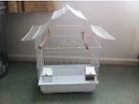 Bird cage suitable for budgies, finches, etc.