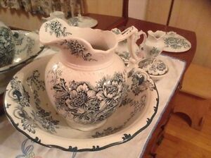 Antique Wash Basin and accessories