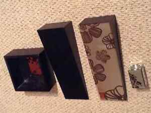 4 piece set wall accent expresso and mirror Windsor Region Ontario image 3