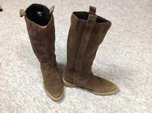 High Top Suade Boots