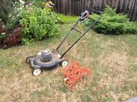 Black and decker lawn mower plus other items