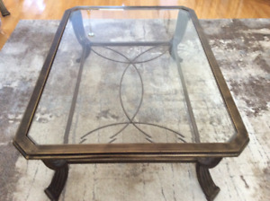 COFFEE TABLE, SOFA TABLE AND TWO END TABLES