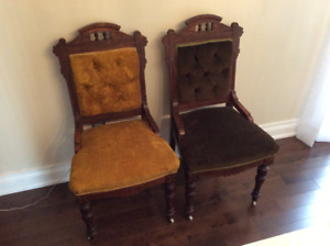 2 lovely antique Victorian Eastlake chairs