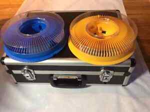 Slide projector Kodak 4600 with lens, remote  2 carousels + case