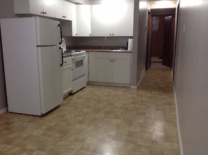 2 bedrooms 1 bath, bright and clean basement for March 1st