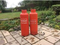 2x Calor Gas Propane Gas Bottles 47kg 1x Empty 1x Almost Full ( used for 3 evenings only)