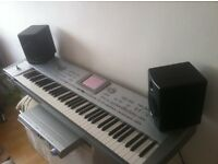korg pa1x pro Elite with m-audio av40