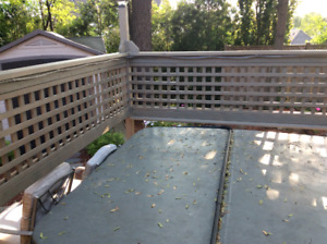 Hot Tub Cover 7ftx7ft, grey good condition