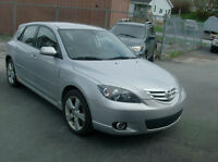 2006 MAZDA 3 - FUN TO DRIVE  5-SPD.  LOADED - ONLY $3775.