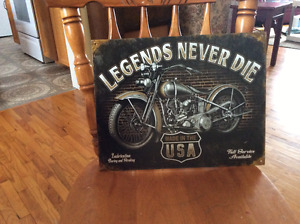 Legends motorcycle sign