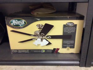 Ceiling fan with lights, brand new, in box!