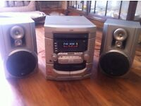 Hifi system 3 CD player CDR CDRW Radio Double cassette LG Silver