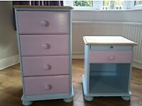 Drawers and bedside cabinet