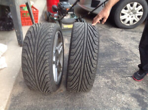 Summer tires on Lenso Rims Of BMW323
