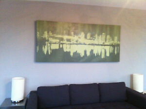 large urban cityscape painting for sale - price negotiable !