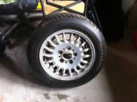 4 winter tires (firestone) on BMW alloy rims 195/60R15