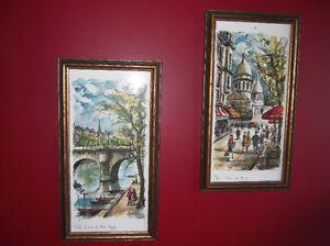 Vintage Paris Watercolour Prints by Arno (Set of 4) Belleville Belleville Area image 2