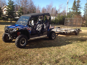 2013 RZR 800 4 seater with trailer