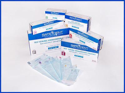 Self Seal Sterilization Pouches 3.5 X 10 200 Bx Dual Indicators Dental
