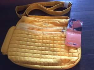 Brand New Lug Aerial Marigold Yellow Cross Body Bag