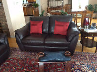 Leather sofa from Ikea MAKE ME A GOOD OFFER AND ITS YOURS!