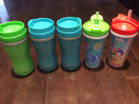 12 sippy cups of all levels - some brand new