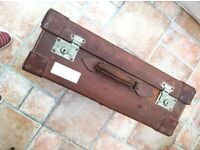 Suitcase leather