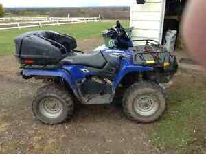 500HO 4x4 bike works great comes with plow senior owned