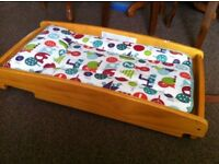 Mamas and papas over cot changing table with mat