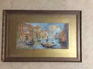 Antique Original watercolour painting by Otto H. Schneider