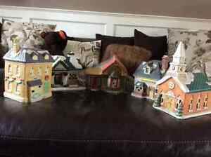 Christmas village with train for sale