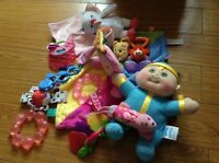 Lot of baby toys, rattles and teethers