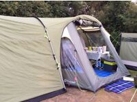 Outwell 4 man tent and sunncamp awning