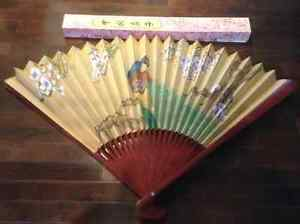 Japanese Hand Painted Decorative Fan