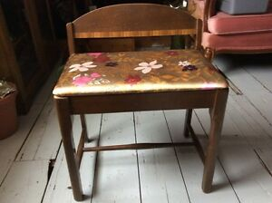 Antique vanity chair/stool