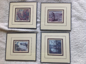 4 Framed Group of Seven Pictures