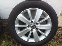 "16"" (2012) VW (10 SPOKE) ALLOY WHEELS PCD 5X112"