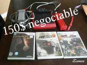 Wii rouge 125$ ne pas tenir compte du prix sur la photo