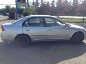 2002 HONDA CIVIC AUTOMATIC 4 DR NO ISSUES