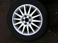 Vauxhall or Saab alloy wheels and tyres