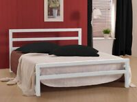 BRAND NEW CITY BLOCK SINGLE / DOUBLE / SMALL DOUBLE METAL BED FRAMES WITH CHOICE OF MATTRESSEES