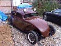 1969 Volkswagen VW Beetle Rat Rod Chop modified