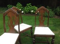 Antique dining chairs (set of 5)