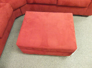 **PERFECT CONDITION RED OTTOMAN**