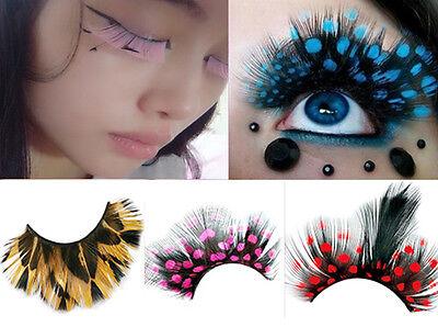 Halloween Costume Party Crazy Feather False Eyelashes Beauty Tools  18 Styles