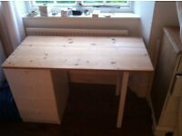 Nice pine desk with drawers going cheap