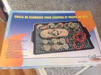 grille a legumes-fruit de mer pour BBQ