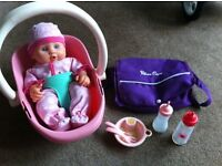 Baby Doll Annabel Carseat Carrycot Silver Cross Changing Bag