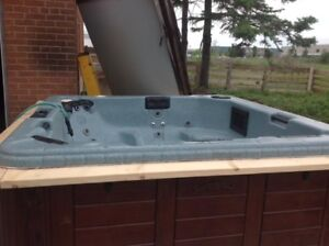 Jaccuzzi/hot tub for sale with accessories.
