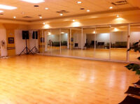 Beautiful Downtown Dance Studio space for lease or rent